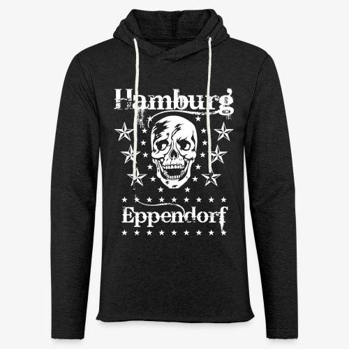 Hamburg Stadtteil Eppendorf Skull Totenkopf T-Shirt 57 - Leichtes Kapuzensweatshirt Unisex
