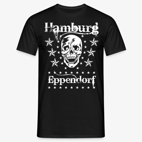 Hamburg Stadtteil Eppendorf Skull Totenkopf T-Shirt 57 - Männer T-Shirt