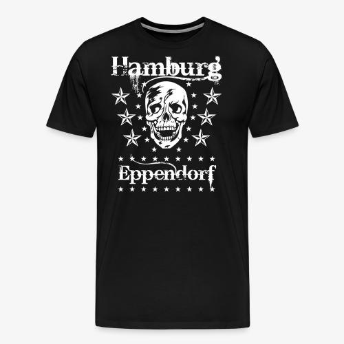 Hamburg Stadtteil Eppendorf Skull Totenkopf T-Shirt 57 - Männer Premium T-Shirt