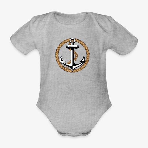 Anker Seil Vintage Farbe T-Shirt 65 - Baby Bio-Kurzarm-Body