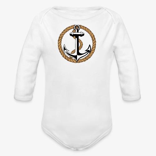 Anker Seil Vintage Farbe T-Shirt 65 - Baby Bio-Langarm-Body