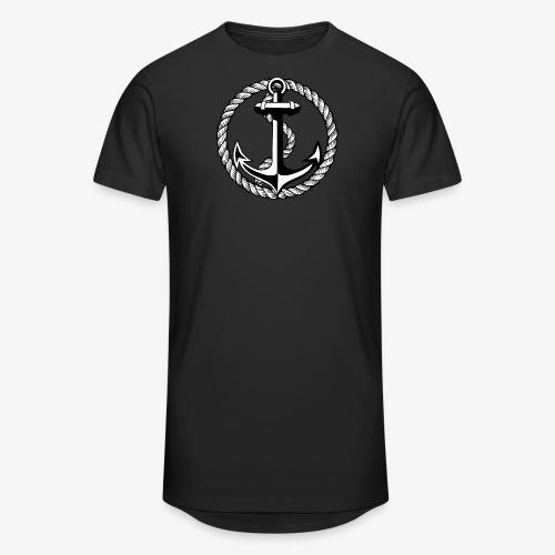 Anker Seil Vintage schwarz-weiss T-Shirt 65b - Männer Urban Longshirt