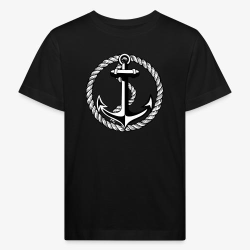 Anker Seil Vintage schwarz-weiss T-Shirt 65b - Kinder Bio-T-Shirt