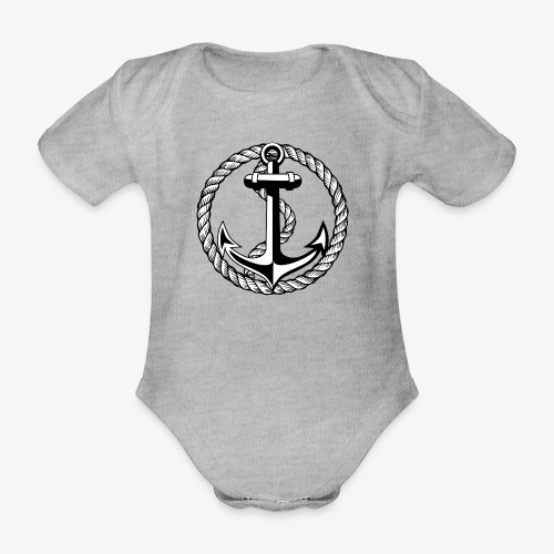 Anker Seil Vintage schwarz-weiss T-Shirt 65b - Baby Bio-Kurzarm-Body