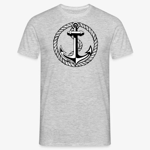 Anker Seil Vintage schwarz-weiss T-Shirt 65b - Männer T-Shirt