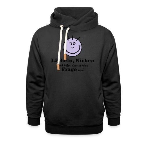Lächeln - Schalkragen Hoodie