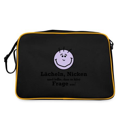 Lächeln - Retro Tasche