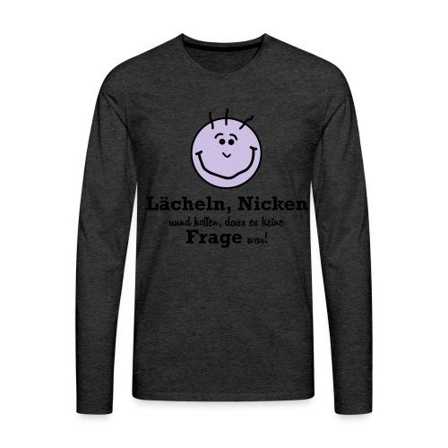 Lächeln - Männer Premium Langarmshirt