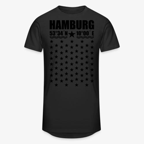 Hamburg Koordinaten Längengrad Breitengrad T-Shirt 67 - Männer Urban Longshirt