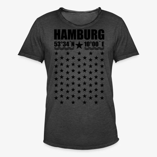 Hamburg Koordinaten Längengrad Breitengrad T-Shirt 67 - Männer Vintage T-Shirt