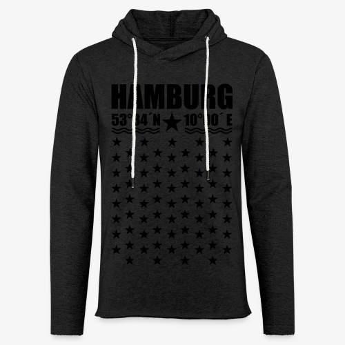 Hamburg Koordinaten Längengrad Breitengrad T-Shirt 67 - Leichtes Kapuzensweatshirt Unisex