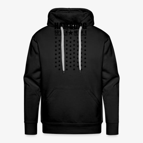 Hamburg Koordinaten Längengrad Breitengrad T-Shirt 67 - Männer Premium Hoodie