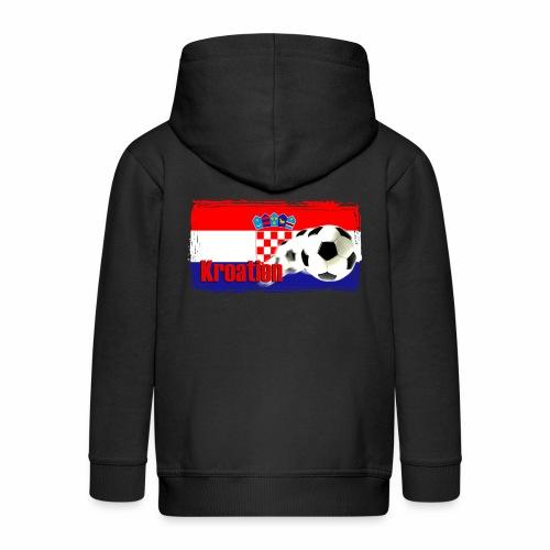 Kroatien Fussball - Kinder Premium Kapuzenjacke