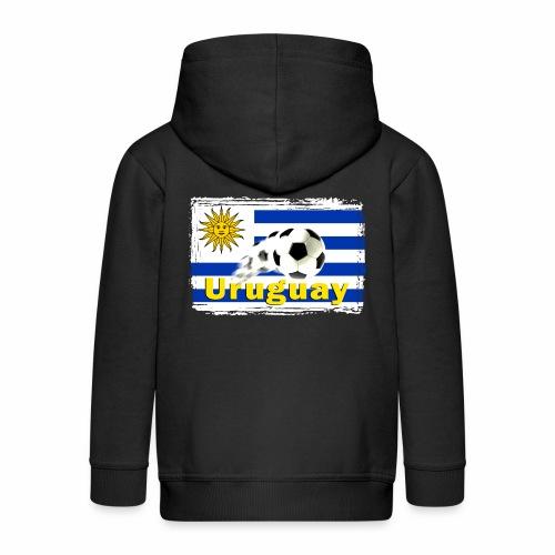 Uruguay Fussball - Kinder Premium Kapuzenjacke