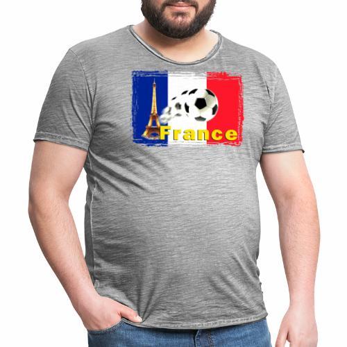 Fussball Frankreich - Männer Vintage T-Shirt