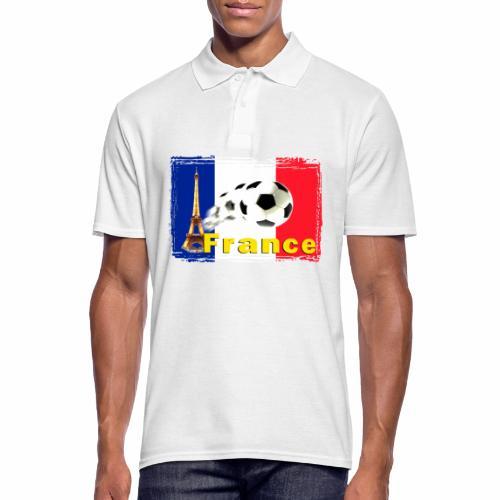 Fussball Frankreich - Männer Poloshirt