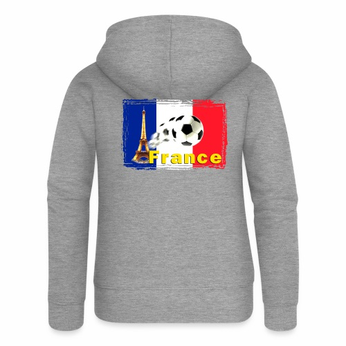 Fussball Frankreich - Frauen Premium Kapuzenjacke