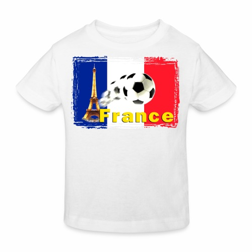 Fussball Frankreich - Kinder Bio-T-Shirt