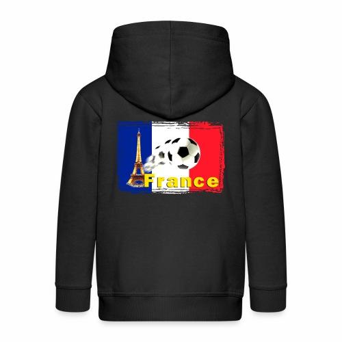 Fussball Frankreich - Kinder Premium Kapuzenjacke