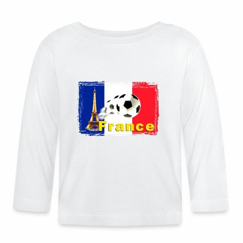 Fussball Frankreich - Baby Langarmshirt