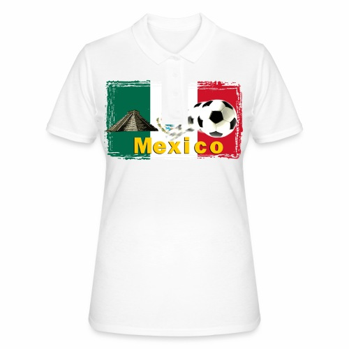 Fussball Mexico - Frauen Polo Shirt