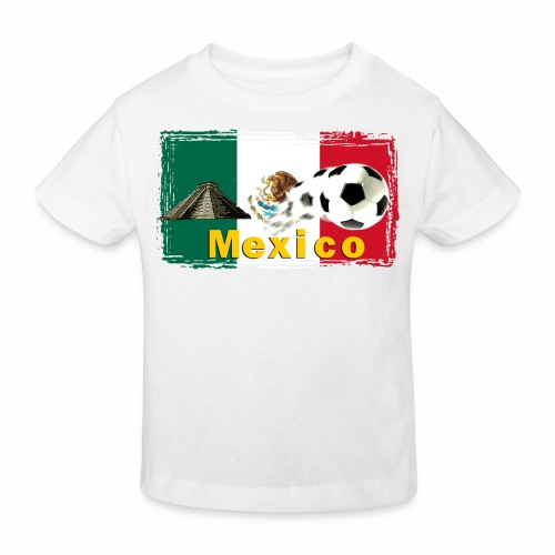 Fussball Mexico - Kinder Bio-T-Shirt