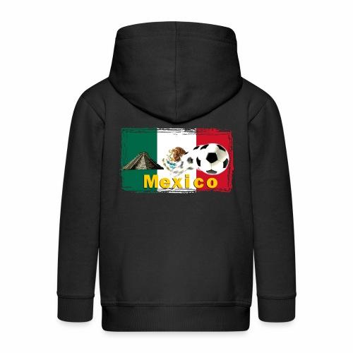 Fussball Mexico - Kinder Premium Kapuzenjacke