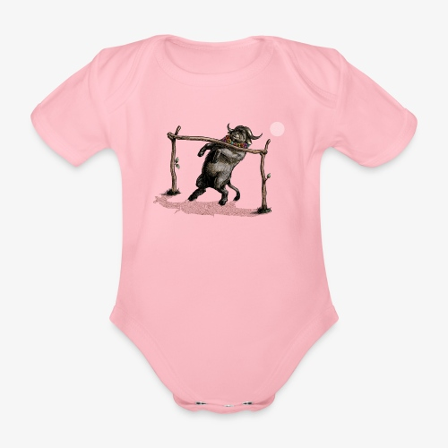 Buffalo can you go? - Organic Short-sleeved Baby Bodysuit