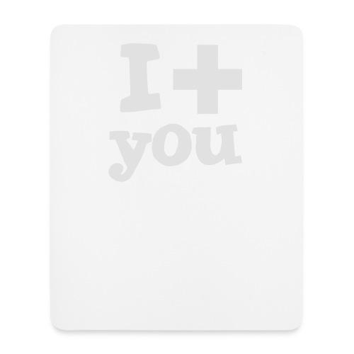 Tasse  |  I love you  - Mousepad (Hochformat)