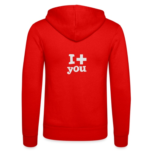 Tasse  |  I love you  - Unisex Kapuzenjacke von Bella + Canvas