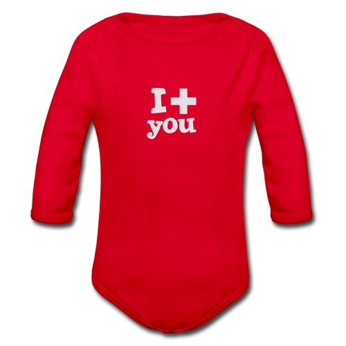Tasse  |  I love you  - Baby Bio-Langarm-Body