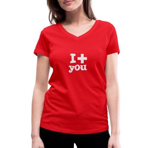 Tasse  |  I love you  - Frauen Bio-T-Shirt mit V-Ausschnitt von Stanley & Stella