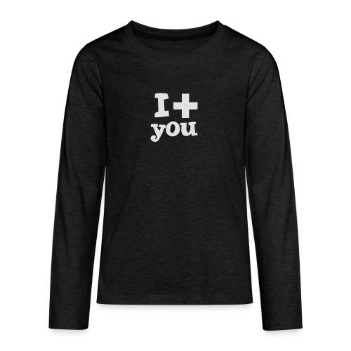 Tasse  |  I love you  - Teenager Premium Langarmshirt