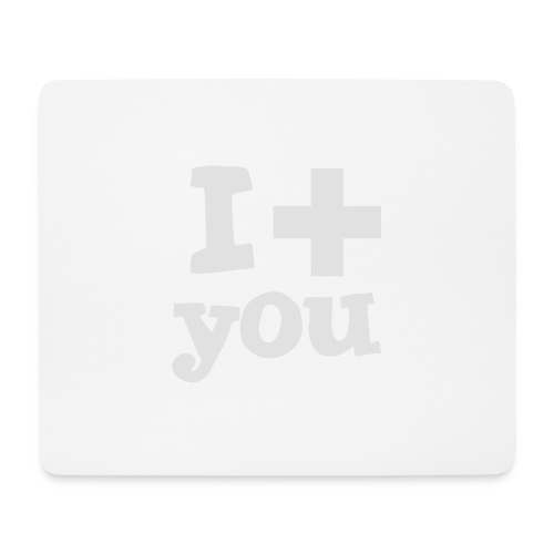 Tasse  |  I love you  - Mousepad (Querformat)