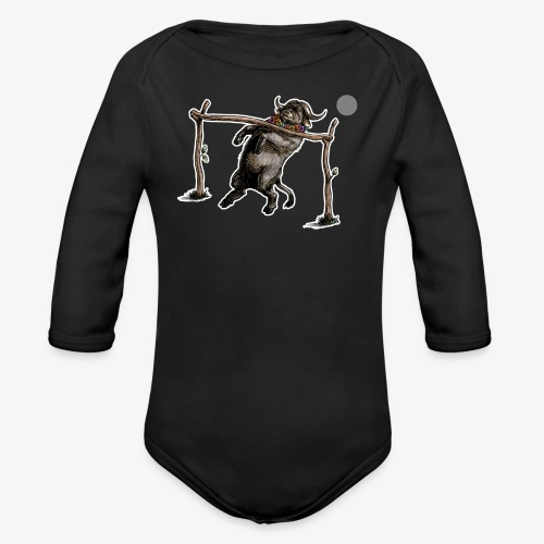 Buffalo can you go? - Organic Longsleeve Baby Bodysuit