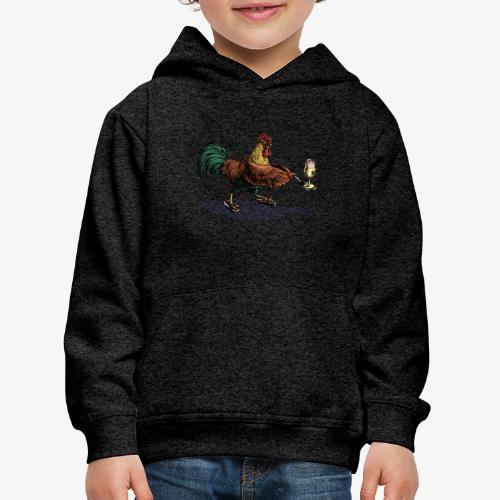 Cockerel Egg and Spoon - Kids' Premium Hoodie