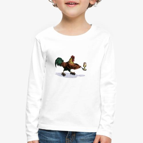 Cockerel Egg and Spoon - Kids' Premium Longsleeve Shirt
