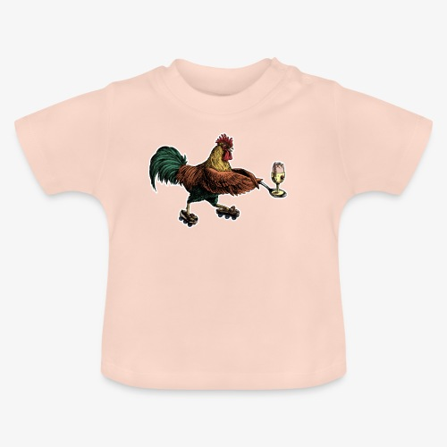Cockerel Egg and Spoon - Baby T-Shirt