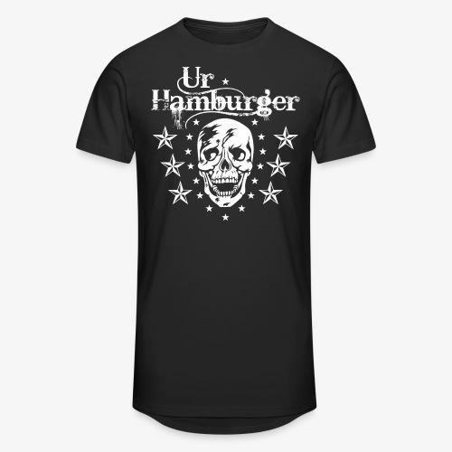 69 Ur-Hamburger Totenkopf Skull Männer T-Shirt - Männer Urban Longshirt