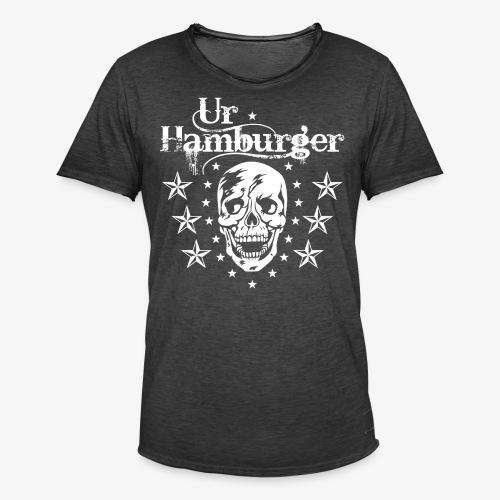 69 Ur-Hamburger Totenkopf Skull Männer T-Shirt - Männer Vintage T-Shirt
