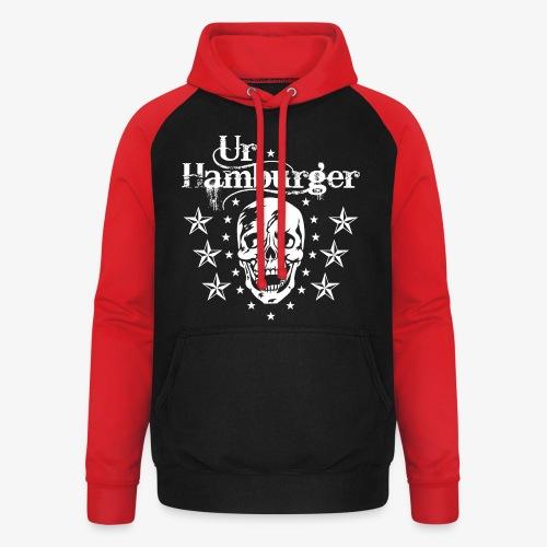 69 Ur-Hamburger Totenkopf Skull Männer T-Shirt - Unisex Baseball Hoodie