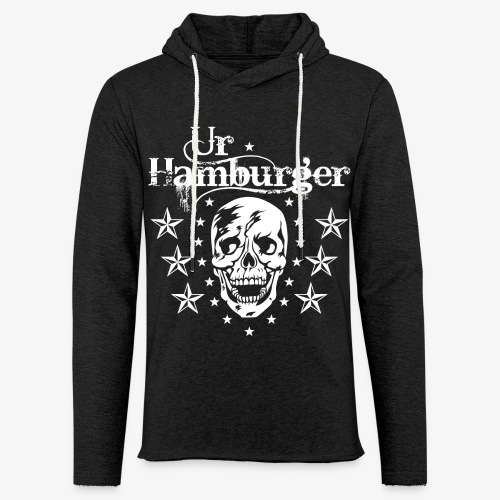 69 Ur-Hamburger Totenkopf Skull Männer T-Shirt - Leichtes Kapuzensweatshirt Unisex
