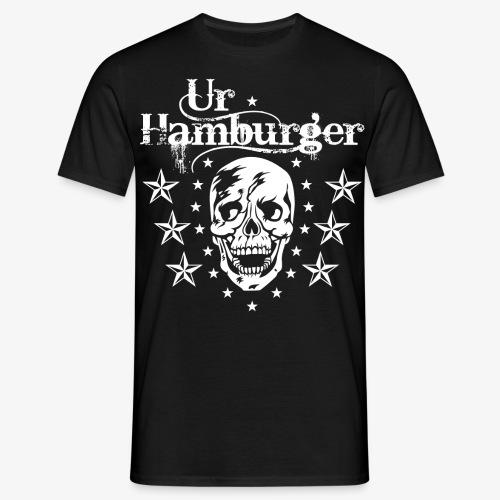 69 Ur-Hamburger Totenkopf Skull Männer T-Shirt - Männer T-Shirt