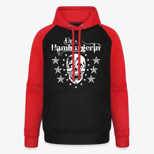 72 Ur-Hamburgerin Totenkopf Skull Frauen T-Shirt - Unisex Baseball Hoodie
