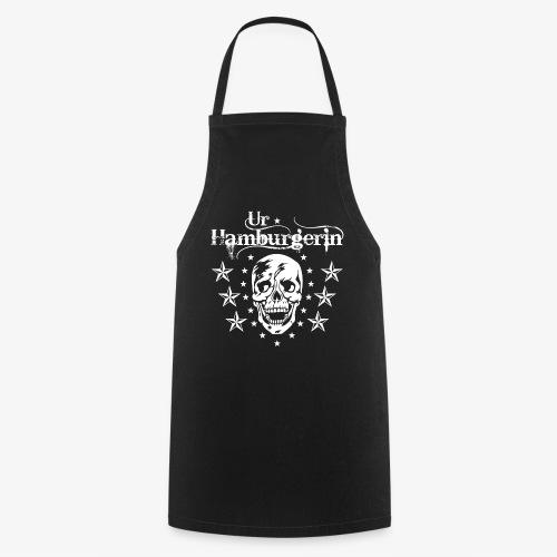 72 Ur-Hamburgerin Totenkopf Skull Frauen T-Shirt - Kochschürze