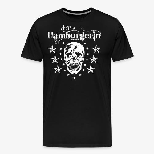72 Ur-Hamburgerin Totenkopf Skull Frauen T-Shirt - Männer Premium T-Shirt