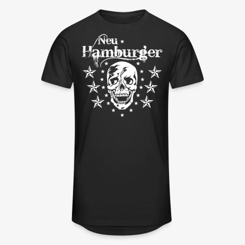 70 Neu-Hamburger Totenkopf Skull Männer T-Shirt - Männer Urban Longshirt