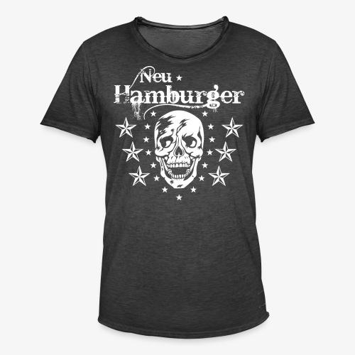 70 Neu-Hamburger Totenkopf Skull Männer T-Shirt - Männer Vintage T-Shirt