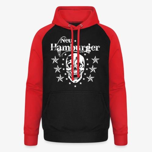 70 Neu-Hamburger Totenkopf Skull Männer T-Shirt - Unisex Baseball Hoodie