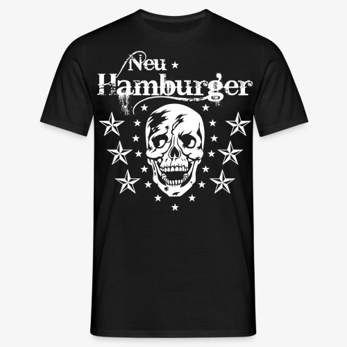 70 Neu-Hamburger Totenkopf Skull Männer T-Shirt - Männer T-Shirt